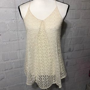 Altard State beautiful lace tank top w/lining G44